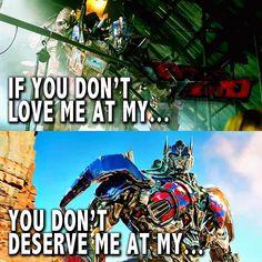 I love you Optimus