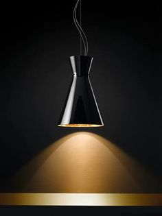 Contemporary Glass Feature Pendant Lighting_Modern feature Lighting_Black Glass and Gold_deMajo_Memory Pendant_Lighting Solutions_NZ