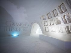 A 'Game of Thrones' Ice Hotel Lets You Experience the Northern Kingdom in Real Life | Created using 400 ons of ice, the annual hotel features an exclusive reindeer-filled menu and chilled Nordic cocktails.