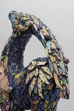 """""""Gazella"""" (detail) by Denise Sirchie by Contemporary Mosaic Art, via Flickr"""