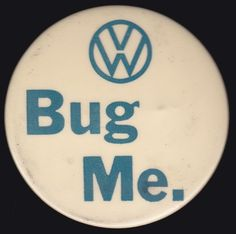 1960s VOLKSWAGEN BUG ME Beetle Nixon Psychedelic Hippie Protest Pinback Button
