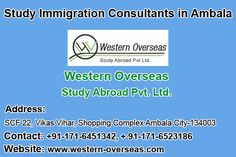 Western Overseas: One of the emerging study immigration consultants in Ambala, Study in Australia, Study in Canada, Study in New Zealand