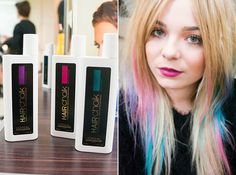 L'Oreal Hair Chalks: First Date Violet Coral Sunset Garden Party