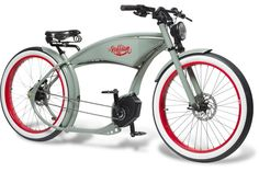 The Ruffian – erstes Chopper eBike mit Bosch-Antrieb - Pedelecs und E-Bikes Old Bicycle, Cruiser Bicycle, Motorized Bicycle, Baby Bicycle, Bicycle Panniers, Recumbent Bicycle, Bicycle Shop, Bicycle Women, Electric Cargo Bike