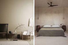 decoración color beige en las paredes Dressing, Color Beige, Wabi Sabi, House Colors, Bed, Furniture, Home Decor, Living Room Designs, Bedroom Green