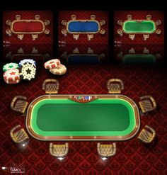 Poker Table v2 on Behance