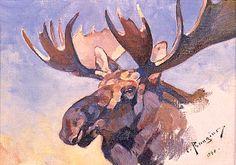 Carl Rungius - Moose Portrait