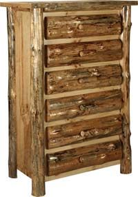 Amish Outlet Store : Lodge Pole Pine 6 Drawer Chest