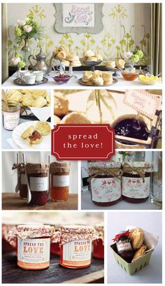 Biscuit Bar: Spread the Love! Perfect for a brunch wedding. Also serve with savory toppings too (Apple Butter Favors) Tater Tot Breakfast, Breakfast Buffet, Breakfast For Dinner, Brunch Party, Brunch Wedding, Wedding Breakfast, Champagne Breakfast, Biscuit Bar, Biscuit Recipe