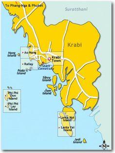 Map of Ao Nang