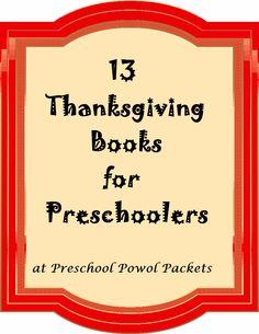 Preschool Powol Packets: 13 Thanksgiving Books for Preschoolers