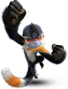 The Croods - Punch Monkeys are fierce primates with giant gorilla-like hands, a monkey body and a long tail that looks like a third hand. Punch Monkeys are great fighters.
