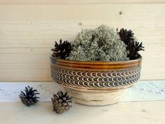 Vintage big pottery bowl West German serving bowl от DelicateRetro