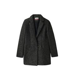 Manteau mi-long cintré et pailleté