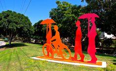 4 Figures, Ashkelon.  Painted Metal  Sculpture by Uri Dushy