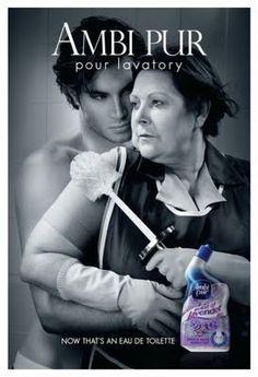 """Ambi Pur pour lavatory - """"Now that's an eau de toilette"""" (Sexy toilet ad)"""