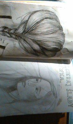 #zniszcztendziennik #wreckthisjournal #rysunek #szkic #hair