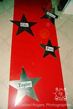 Take pic with the party guest hands on thier star- this would also be cute on the side walk as they come in