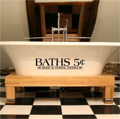 CLEARANCE BATHS 5 cents soap and towel extra  by VinylLettering, $6.92