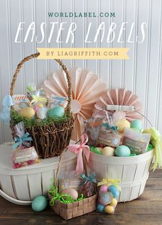 Free printable Easter labels & templates. Cute, simple tags for edibles and gifts.
