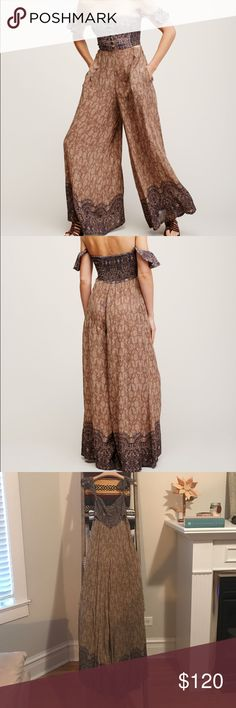 Free people midsummer dream romper In excellent condition! Size XS Free People Dresses Maxi