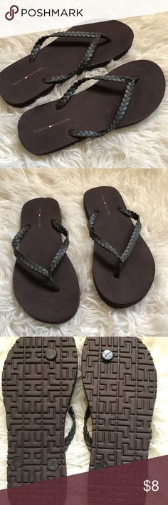 56fbfb0fa81 Shop Women s Tommy Hilfiger Brown size Sandals at a discounted price at  Poshmark.