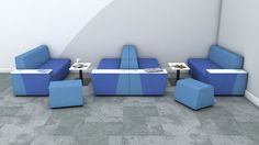 Roost Hangout Booths. Back-to-back sofas can create a series of booths for socialising or collaborating on projects.