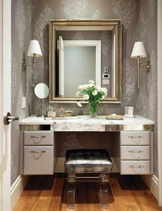 Traditional Bedroom Photos Design Ideas, Pictures, Remodel, and Decor - page 6 Modern Dressing Table Designs, Closet Vanity, Closet Mirror, Master Closet, Dressing Area, Dressing Tables, Dressing Rooms, Bedroom Photos, Traditional Bedroom