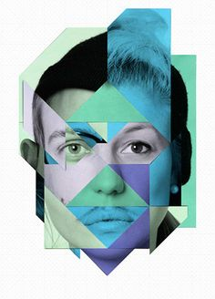 Collage portrait I like this work because of the fact that it uses photoshop to create the shapes within the image and in addition it does use other peoples faces which does create a distorted image in terms you don't know who the main individual is in the picture