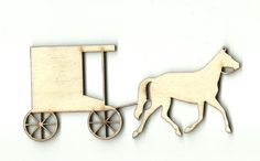 Fairytale Carriage MDF Laser Cut Craft Blanks in Various Sizes