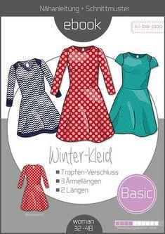360baafeb24003 Ebook Basic Winterkleid Das Winterkleid ist ein schnell und leicht zu  nähendes Kleid. Ein echter