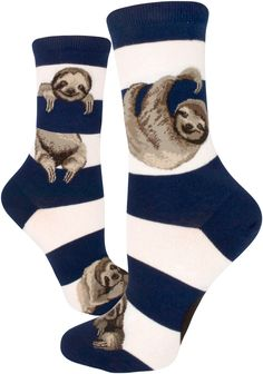 These short sloth socks are perfect for summertime lounging!