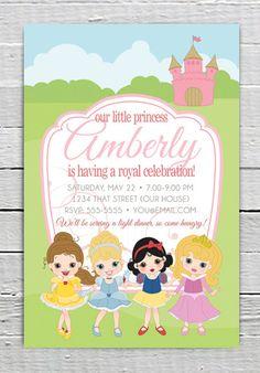 Disney Princess Custom Printable Birthday Invitation
