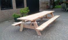 Douglashout picknicktafel 200 x 140 x 5 dik