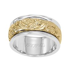 Artcarved Doric Carved Platinum Las Wedding Band 6 0mm 11