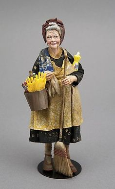 Cleaning Lady by IGMA Fellow Marcia Backstrom 1:12 Scale