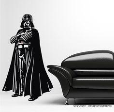 df6709353efb Darth Vader Star Wars Clone Wars Jedi Silhouette Sticker - Wall Art Decal  Vinyl Sticker Nerd