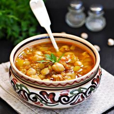 Soup Recipes, Cooking Recipes, Healthy Recipes, Harira Soup, Traditional Bowls, Eastern Cuisine, My Best Recipe, Food Staples, Light Recipes