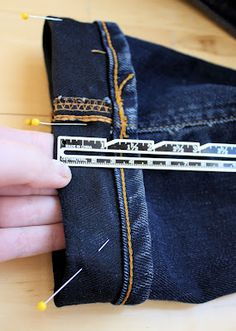 lady danburry shows you two ways to keep your original jeans hem