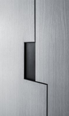 The Art Collector Appartment 2 - Pitsou Kedem ui, ux Cabinet Design, Door Design, Architecture Details, Interior Architecture, Interior Design, Pitsou Kedem, Wardrobe Handles, Joinery Details, Furniture Handles