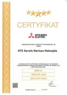 Certyfikaty i referencje - DTS Serwis
