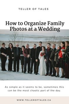 Unless you're breaking away from tradition and doing a first look, family photos usually happen right after the ceremony. As simple as it seems to be, sometimes this can be the most chaotic part of the day. Wedding Advice, Wedding Planning, Family Portraits, Family Photos, Family Organizer, Organization, How To Plan, Couples, Family Posing