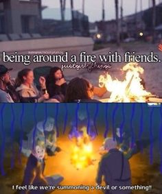 Lets-a gather around the campfire and sing-a our campfire song, our c-a-m-p-f-i-r-e-s-o-n-g song! And-a if you think that you-a can sing it faster than-a your wrong, but it'll help if-a you just sing along~!