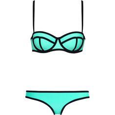 MILLY ST TROPEZ SUN ($89) ❤ liked on Polyvore featuring swimwear, bikinis, swimsuits, bikini swim wear, milly bikini, bikini swim suit, swimsuit swimwear and bikini bathing suits