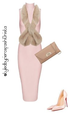 """""""Nude"""" by fiercefashi0nista on Polyvore featuring Christian Louboutin and Luella"""