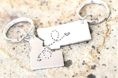 Or these key chains that'll mark that distance but not your closeness. | 27 Gifts To Share With Your Best Friend