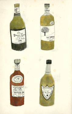 Some bottles of wine.