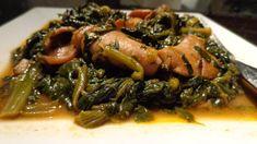 Καλαμαράκια με σπανάκι Greek Recipes, Fish Recipes, Seafood Recipes, My Recipes, Vegetarian Recipes, Cooking Recipes, Greek Cooking, Spinach Recipes, Fish And Seafood