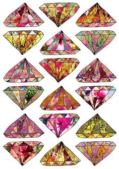 these diamonds are forever  by Bianca Green #art #illustration