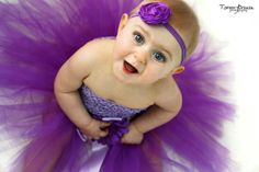 Purple Plum Flower Girl Tutu Dress by PoshPixieTutu on Etsy, $69.99